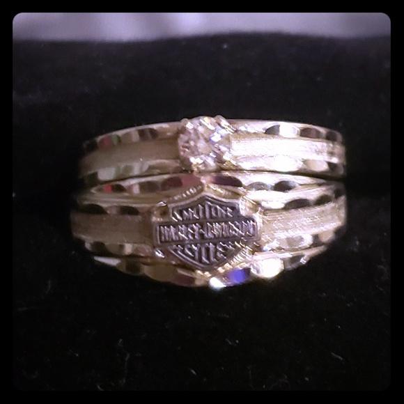 Harley Davidson Wedding Rings.Harley Davidson Wedding Set